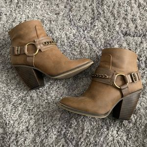 Candie's Faux Leather Metal Accent Booties